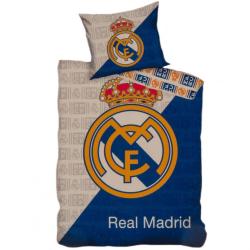 Real Madrid CF Crest påslakanset Single Grå / blå / guld