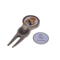 Real Madrid CF Divot-verktyg och markör One Size Silver