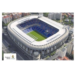 Real Madrid CF-stadionaffisch One Size Vit