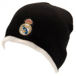Real Madrid CF Unisex vuxna vändbar stickad hatt One Size Svart