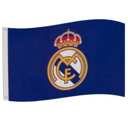 Real Madrid FC Flagga One Size Blå