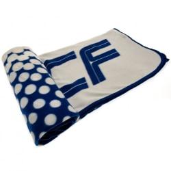 Real Madrid FC Officiell FD Fleece Filt One Size Blå vit
