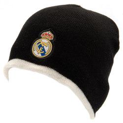 Real Madrid FC Officiella vuxna Unisex vändbar stickad hatt One