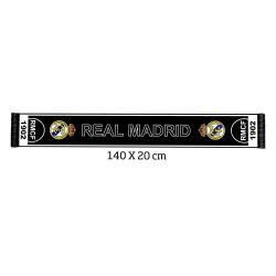 Real Madrid FC Supporters Stadium Scarf One Size Svart vit