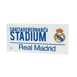 Real Madrid Street Sign 40 x 18cm Vit blå