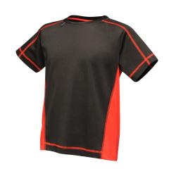 Regatta Aktivkläder Peking T-shirt 5-6 Years Svart / klassisk rö