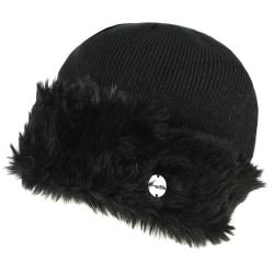 Regatta Dam / Luz Faux Fur Trim Cotton Jersey Winter Beanie Hat