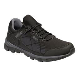 Regatta Mens Highton Stretch Shoes 7 UK Svart / Rockgrå Black/Rock Grey 7 UK