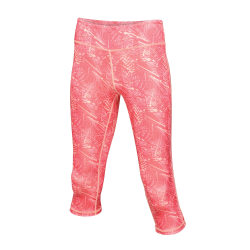 Regatta Kvinnor / damer Pincha 3/4 leggings 10 UK Het rosa tryck