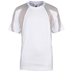 Rhino Barn-pojkar andnings-sport-T-shirt LY Vit / Grå
