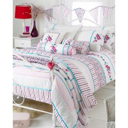 Riva Home Appleby sängäcke 240x260cm Kingfisher / rosa