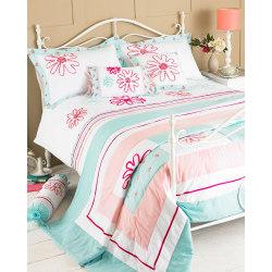 Riva Home Harriet sängäcke 240x260cm Ankaägg / rosa