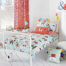 Riva Home Llamarama täcke set Toddler (120x150cm) Multicolour co