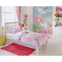 Riva Home Unicorn Barn-/ täcke-set Toddler (120 x 150cm) Rosa