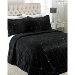 Riva Paoletti Nya Diamante-sängäckeset 220 x 240cm Svart