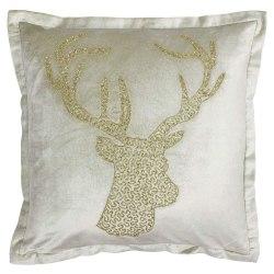 Riva Paoletti Wonderland Stag Christmas Cushion Cover 50x50cm Ch
