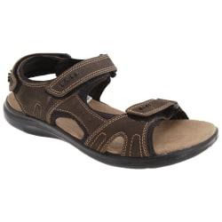 Roamers Herr 3 Touch Fastening Padded Sports Sandals 9 UK Brun
