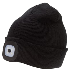 Rock Jock Unisex vuxna laddningsbar LED-ljus mössa hatt One Size