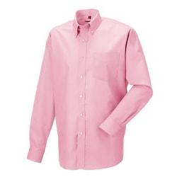 Russell Samling Långärmad herrtröja Oxford skjorta 15inch Klassi