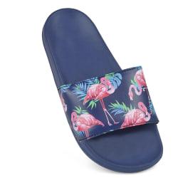 Sand Rocks Flamingo för kvinnor / damtryck Flip Flops / Sliders