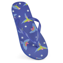 Sandrocks Womens / Ladies Parrot Flip Flops 3/4 UK Mörkblå
