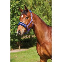 Saxon Element Fleece Headcollar Pony Lila / Navy