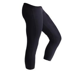 SF Kvinnor / Dam 3/4 Tränings- / Fitness Sport-leggings S Svart
