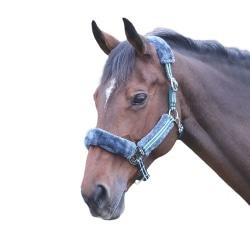 Shires Stripe Horse Headcollar Full Green