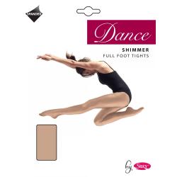 Silky Girls Dance Shimmer Full Foot Tights (1 par) 7-9 Years Lät
