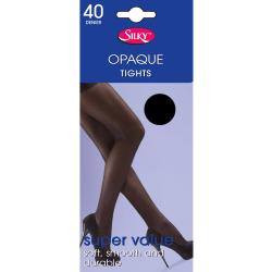 Silky Kvinnor / damer Opaque 40 Denier Budget Tights (1 par) Med