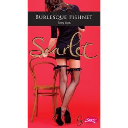 Silky Kvinnor / damer Scarlet Burlesque Fishnet Stay Ups (1 par)