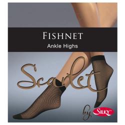 Silky Kvinnor / damer Scarlet Fishnet Ankel Highs (1 par) One Si