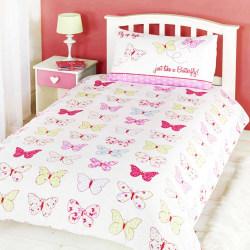 Barn / Flickor Fly Up High Single Duvet Set Single Vit / rosa
