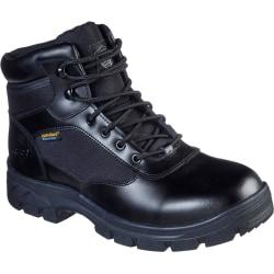Skechers Herr Wascana Benen läder säkerhetsstövlar 8 UK Svart