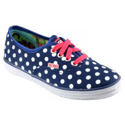 Skechers SK85494 Canvas Spotty Girls Shoes 12.5 UK Junior Navy / W Navy/White 12.5 UK Junior