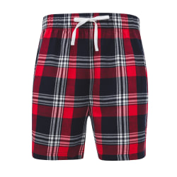Skinni Fit Tartan Lounge-shorts för herrar M Marinblå / grön kon