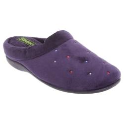 Sleepers Dam / Charley Extra Comfort Memory Foam Velour Mule Tof