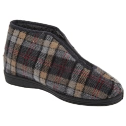 Sleepers Herrar Jed II Thermal Zip Check Bootee Tofflor 11 UK Gr