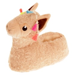 Slumberzzz Llama tofflor för barn / barn 9-10 Child UK Beige