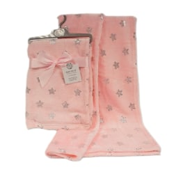 Snuggle Baby Babys Star Print Wrap One Size Rosa