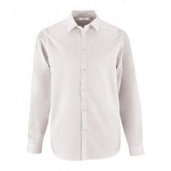 SOLS Brody Herringbone långärmad skjorta för herrar S Vit
