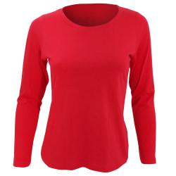 SOLS Dam / Majestät långärmad T-shirt M Röd