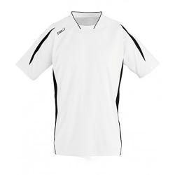 SOLS Herr Maracana 2 kortärmad fotbolls-T-shirt L Vit svart