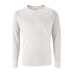 SOLS Sportig långärmad T-shirt herr XL Vit