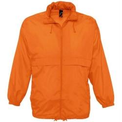 SOLS Unisex Surf Windbreaker Lightweight Jacket XXL Orange Orange XXL