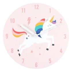 Något annorlunda jagar regnbågar Unicorn Wall Clock One Size