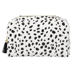Something Different Dalmatian Print Make Up Bag One Size Svart v