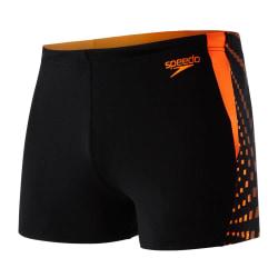 Speedo Grafisk skarvbyxa för män 32S Svart / Orange