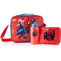 Spider-Man Barn- / barnpaketuppsättning One Size Röd blå