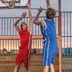 Spiro Herrar snabbtorr basketbukkshorts 2XL Vit svart